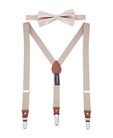 Men's Snazzy Suspender Bow Tie Set