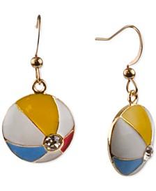 Gold-Tone Pavé Beach Ball Drop Earrings, Created for Macy's
