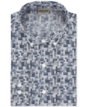 Kenneth Cole Reaction Men's Slim-Fit All Day Flex Performance Stretch Geo-Print Dress Shirt