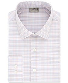 Men's Extra-Slim Fit Non-Iron Performance Stretch Grid Dress Shirt