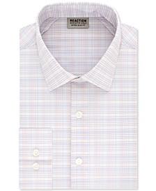 Men's Extra-Slim Fit Non-Iron Performance Stretch Grid Dress Shirt