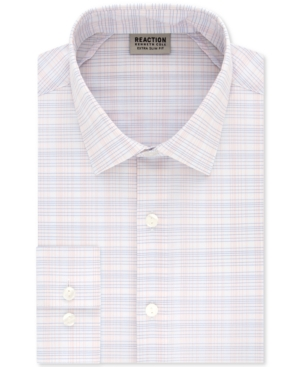 Kenneth Cole Reaction Men's Extra-Slim Fit Non-Iron Performance Stretch Grid Dress Shirt