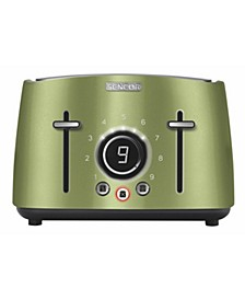 Stainless Steel 4-Slice 1600W Toaster with Digital Button & Rack