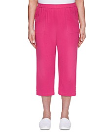 Laguna Beach Button-Trimmed Capri Pants