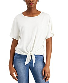Solid Tie-Front Top, Created for Macy's
