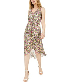 INC Mosaic Floral Chiffon Dress, Created for Macy's