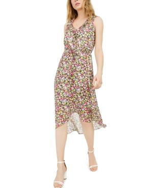 Inc Mosaic Floral Chiffon Dress