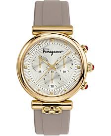 Women's Swiss Chronograph Ora Gray Caoutchouc Rubber Strap Watch 40mm