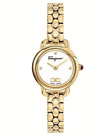 Women's Swiss Varina Gold-Tone Stainless Steel Bracelet Watch 22mm