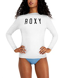 Juniors' Solid Enjoy The Waves Long-Sleeve Rash Guard