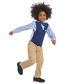 Little Boys 4-Pc. Twill Vest Set