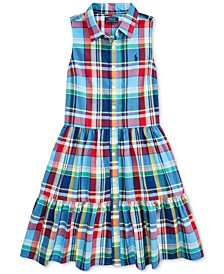 Big Girls Cotton Madras Shirtdress