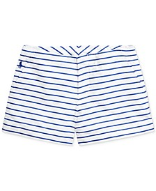 Toddler Girls Striped Cotton Poplin Shorts