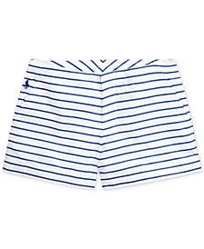 폴로 랄프로렌 여아용 반바지 Polo Ralph Lauren Toddler Girls Striped Cotton Poplin Shorts,Blue Multi