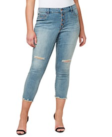 Trendy Plus Size Kiss Me Skinny Ankle Jeans