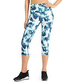 Tie-Dyed High-Waist Cropped Leggings, Created for Macy's