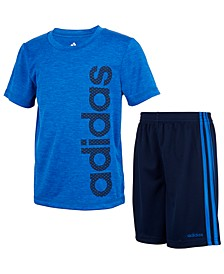 Little Boys 2-Pc. Adi Poly Mélange T-Shirt & Short Set