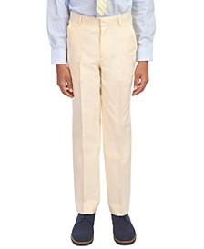 Big Boys Yellow Oxford Dress Pants