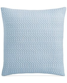 "Baja Cotton 26"" x 26"" Quilted European Sham, Created for Macy's"