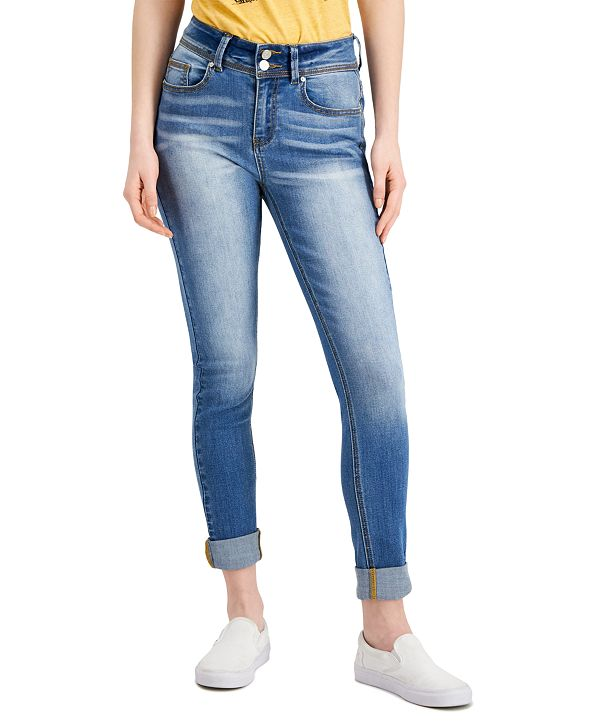 Indigo Rein Cuffed Skinny Jeans