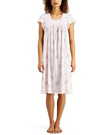 Floral-Print Knit Nightgown