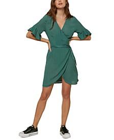 Juniors' Molly Ruffled Wrap Dress