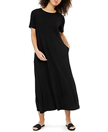 Crewneck Short-Sleeve Dress, Regular & Petite