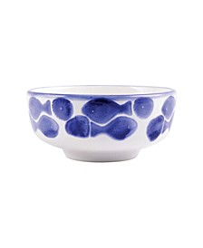 Santorini Fish Medium Footed Serving Bowl
