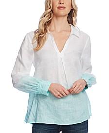 Dip-Dye Linen Tunic