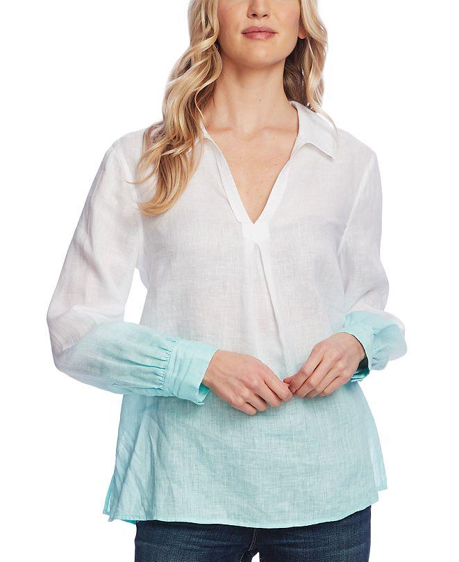 Vince Camuto Dip-Dye Linen Tunic