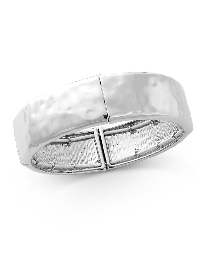 Style & Co Hammered Stretch Bracelet, Created for Macy's