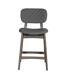 Alden Bay Modern Diamond Stitch Upholstered Counter Height Stool