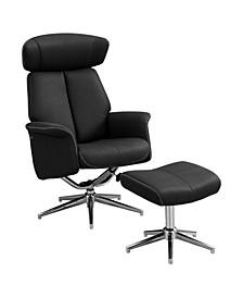 Reclining Chair - 2 Piece Set Swivel Adjust Headrest