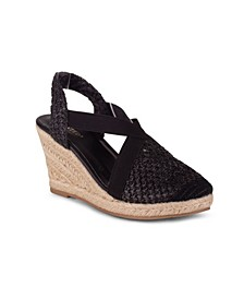Eden Women's Closed Toe Espadrille Wedge Sandal