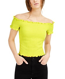 Smocked Off-The-Shoulder Crop Top, Created for Macy's