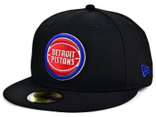 Detroit Pistons Men's All Around Fitted Cap