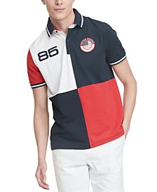Men's Country Custom-Fit Colorblocked Logo Polo Shirt