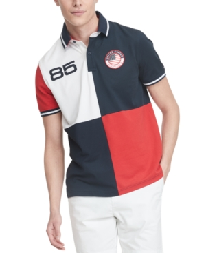 Tommy Hilfiger Men's Country Custom-Fit Colorblocked Logo Polo Shirt