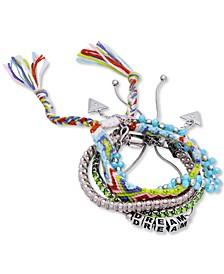 Silver-Tone 5-Pc. Set Mixed Bracelets