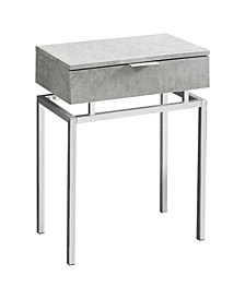"""Accent Table - 24"""" H Cement"""