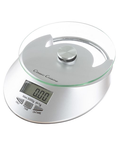 Classic Cuisine Kitchen Scale-Digital Food Weighing Appliance