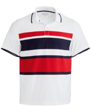 Men's Sporty Stripe Polo Shirt