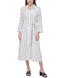 Plus Size Striped Shirtdress