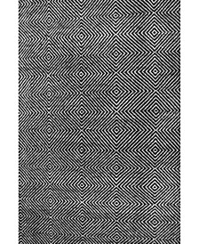 Sofia Hand Tufted Agoja Black 5' x 8' Area Rug