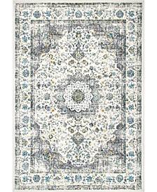 Bodrum Vintage-Inspired Persian Verona Gray 2' x 3' Area Rug