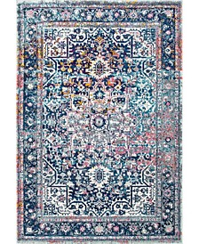 Bodrum Persian Vintage-Inspired Raylene Blue 2' x 3' Area Rug
