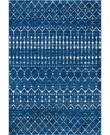 "Bodrum Moroccan Blythe Blue 6'7"" x 9' Area Rug"