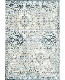 Laziza Arc Tribal Vintage-Inspired Distressed Silver 5' x 8' Area Rug