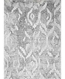 Elina Contemporary Abstract Gray Area Rug