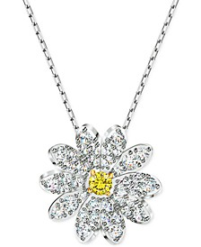 "Silver-Tone Eternal Flower Pendant Necklace, 14-7/8"" + 2"" extender"